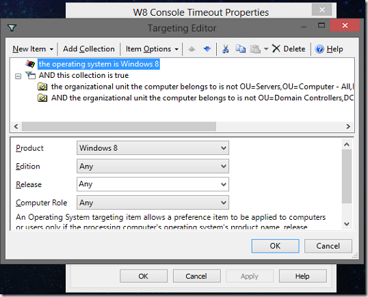Group Policy Preferences Targeting Editor