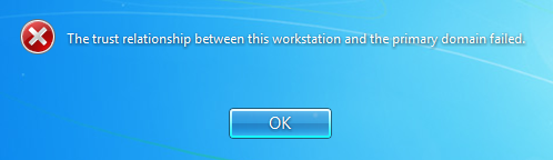 the trust relationship between this workstaion